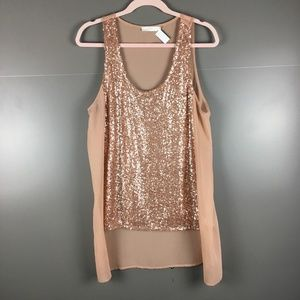 Lush Nordstrom Sequins Cami Tank - Large